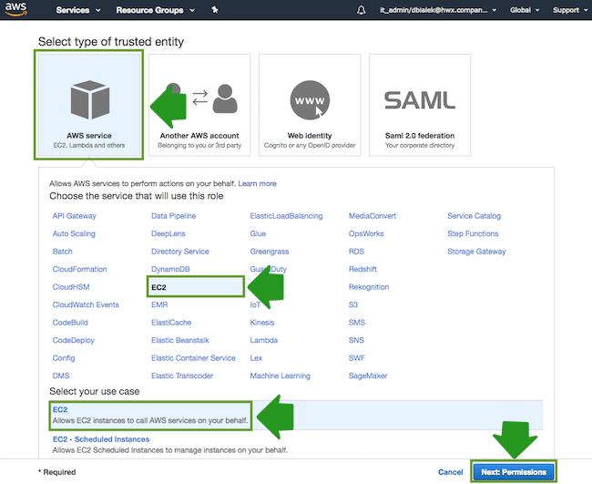 Create an IAM role for S3 access