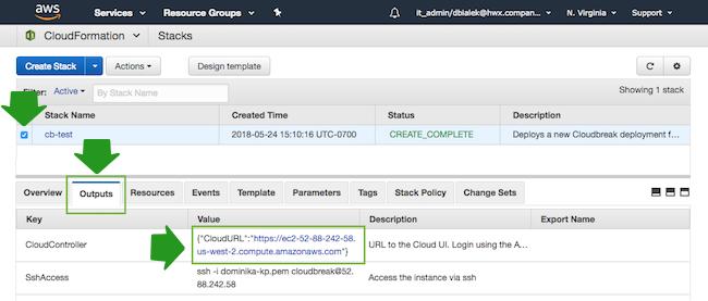 Access Cloudbreak web UI on AWS