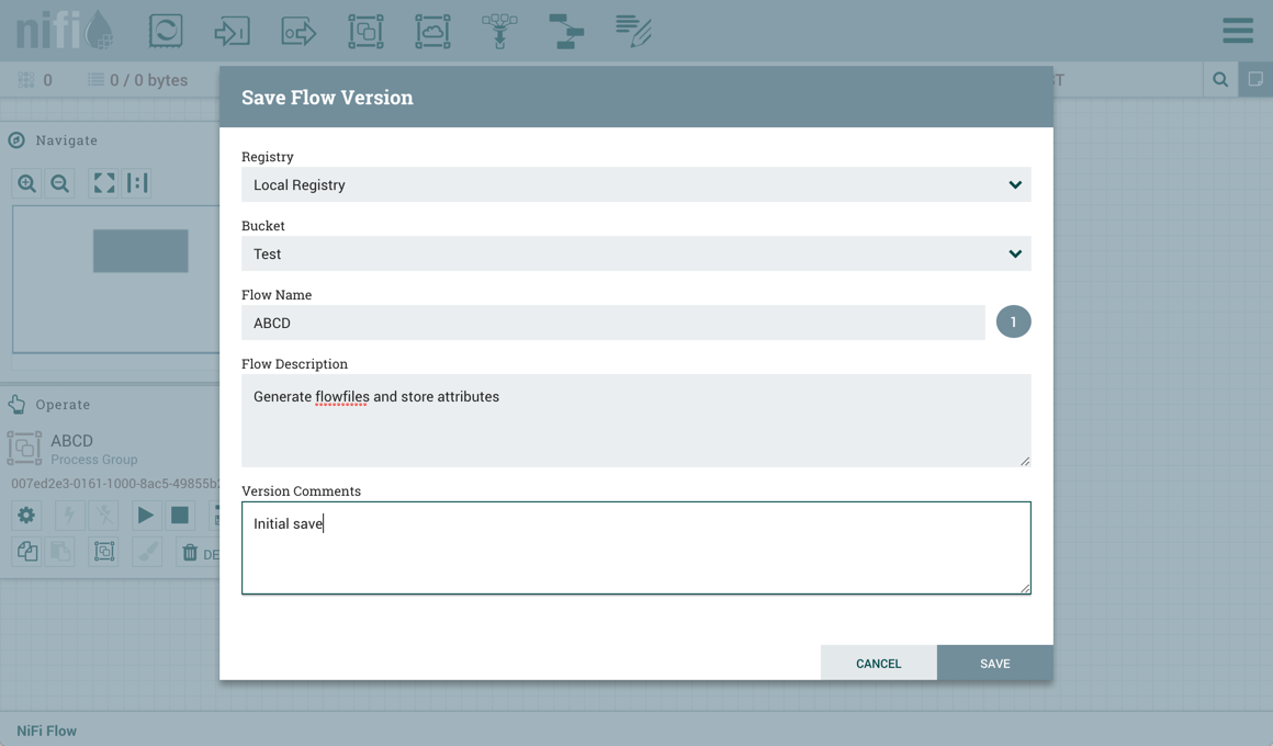 Start Version Control on a Process Group