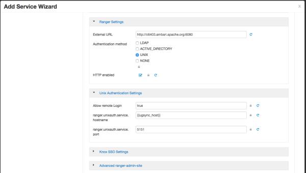 Configure Ranger Authentication for UNIX