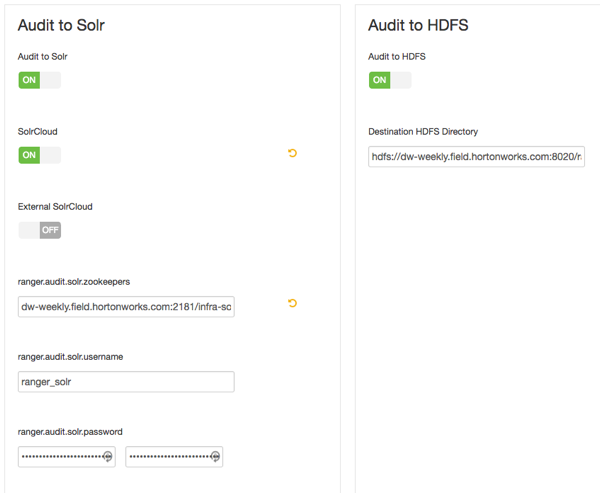Customize Services: Audit