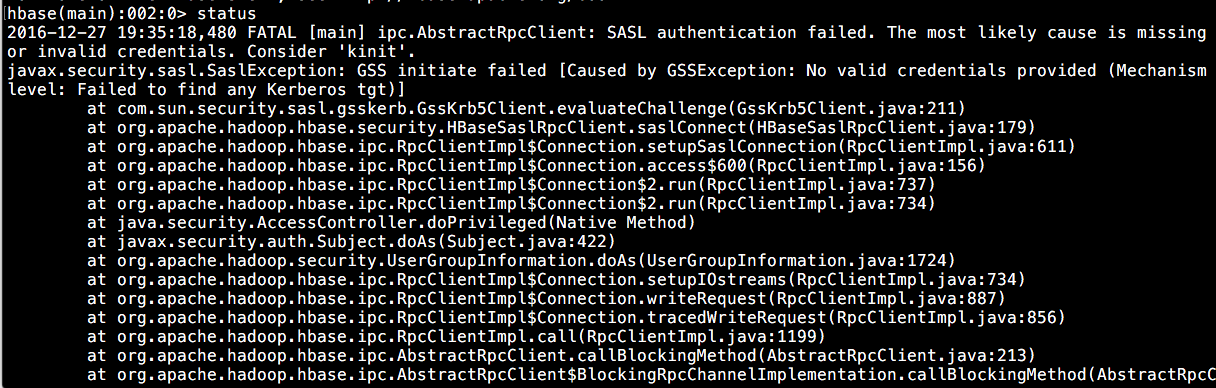 Verify if kerberos is enabled for HBase