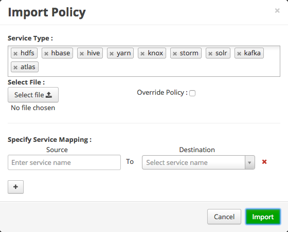 Import Resource-Based Policies for All Services
