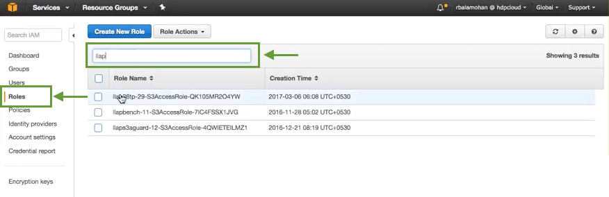 Creating The DynamoDB Access Policy - Hortonworks Data Platform