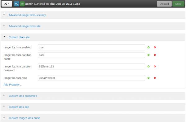 Install Ranger KMS HSM via Ambari with plain text password