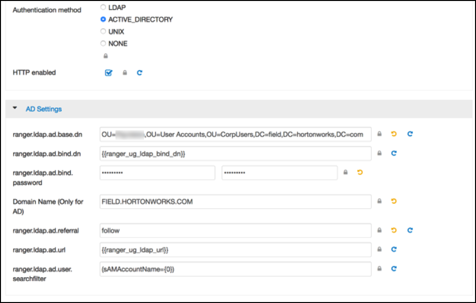 Ranger UI Authentication