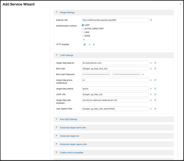 Configure Ranger Authentication for LDAP