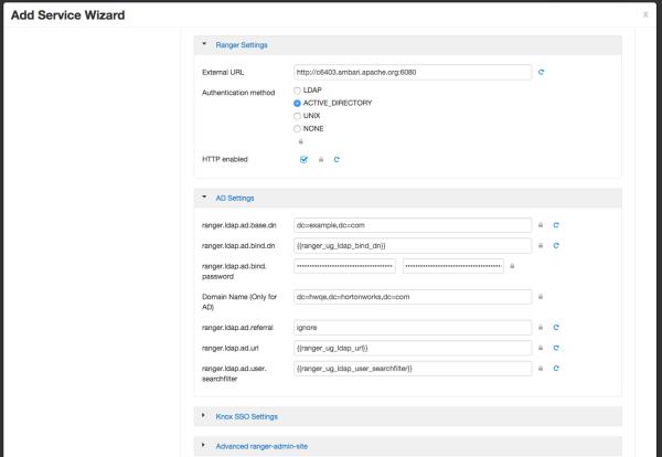 Configure Ranger Authentication for AD