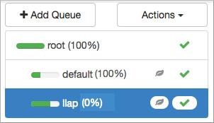 Configure an llap queue